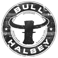 Bull Halsey distressed logo